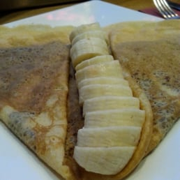 Nutella and banana crepe