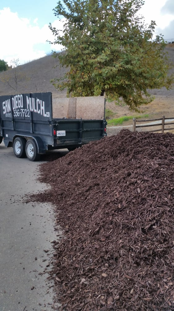 12 Cubic Yards Of Colored Brown Wood Chips Yelp