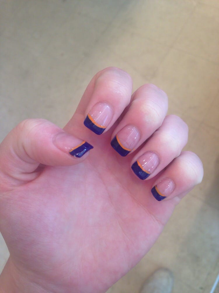 Nail Designs - Broncos nails done today. Very nice - Colorado Springs