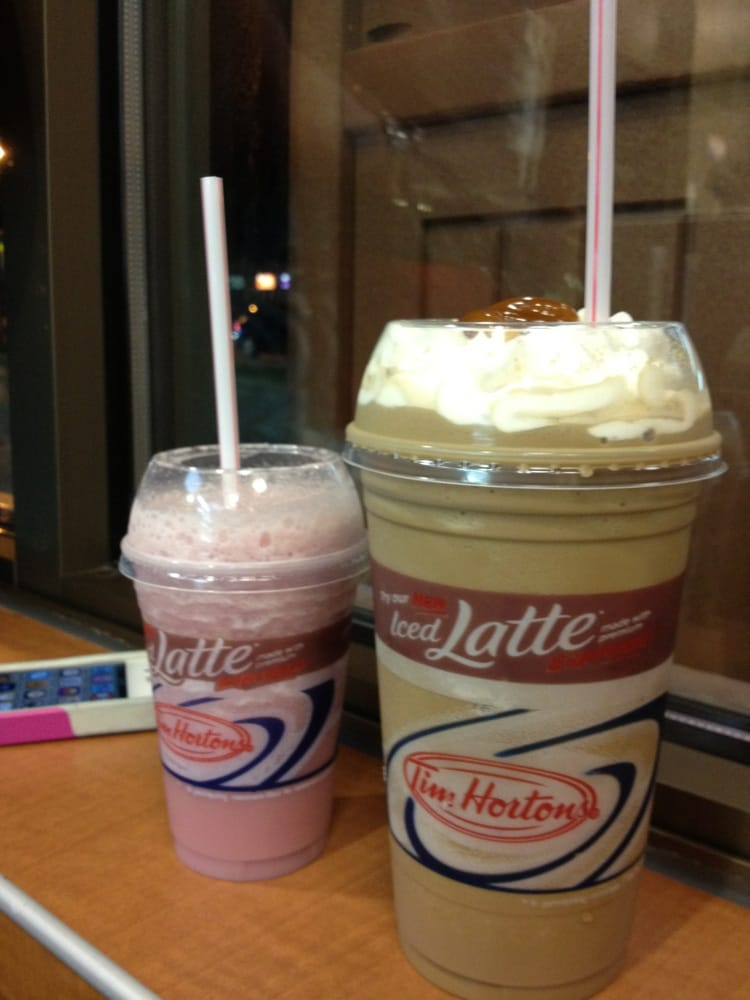 Iced Capp Supreme with a shot of caramel (strawberry ...