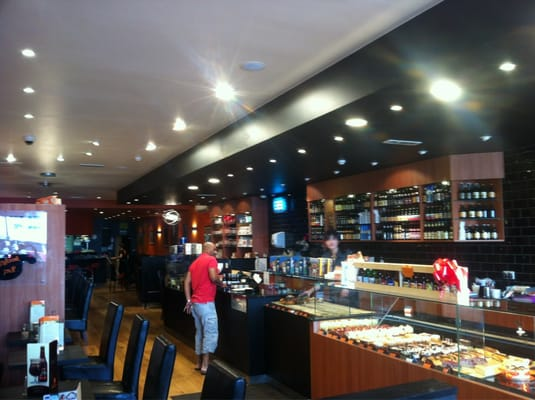 The main counter at Belgique