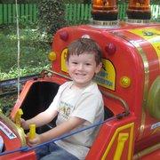 Felipe im Kinderzug