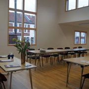 Room 12 -fantastic conference room, with additional break-out room 10, and separate, kitchen serving area.