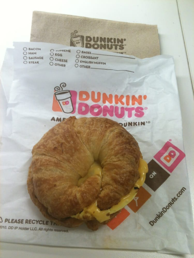 Bacon Egg And Cheese Dunkin Donuts Bacon Egg And Cheese Croissant