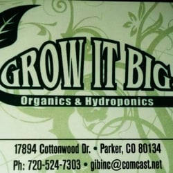 Grow It Big Organics & Hydroponics logo