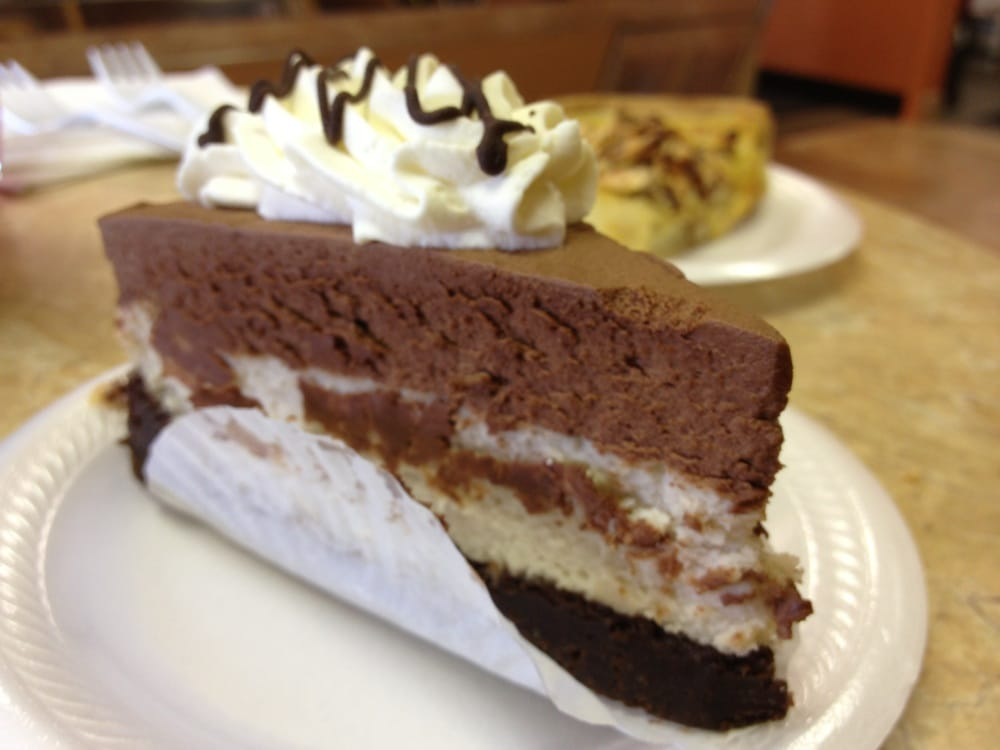 Double chocolate cheesecake - bottom layer of brownie, middle layer of ...
