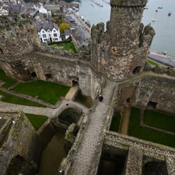 Looking at Conwy and the castle
