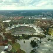 Olympiastadion vom Olympiaturm…