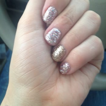 Gel manicure after having acrylic nails. I love the color!
