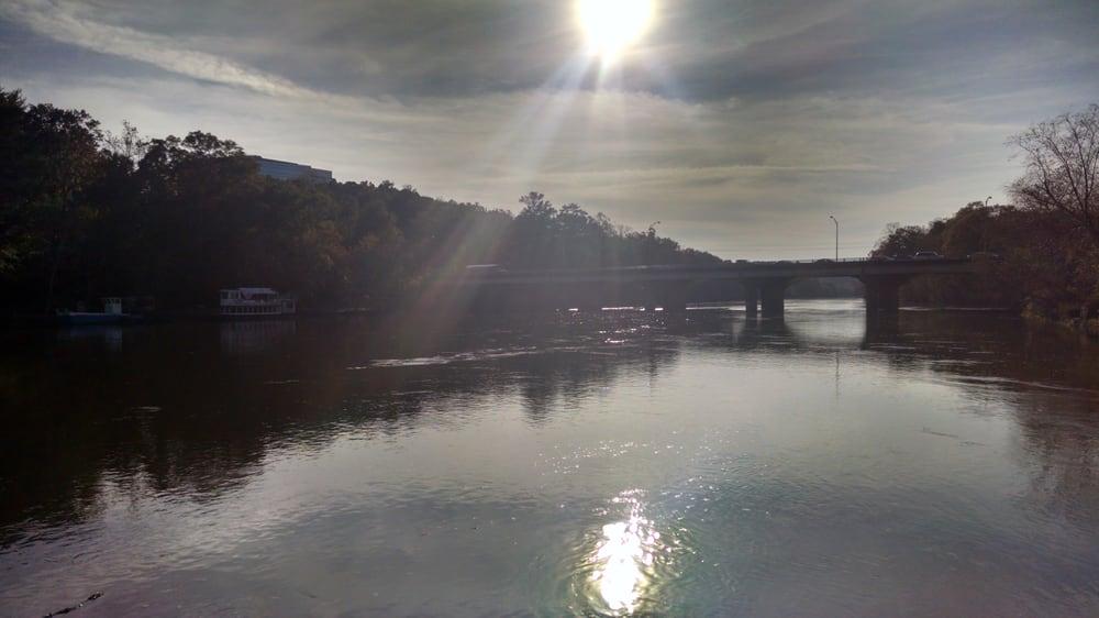 Riverside Park Roswell ga Riverside Park Sunset Over The Chattahoochee River Roswell ga United