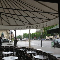 Le Tourville - Paris, France. View from inside, lots of outside seating available