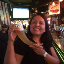 Shywawa - Paris, France. My wife enjoying a la triple 10 Corne,best beer in the place.