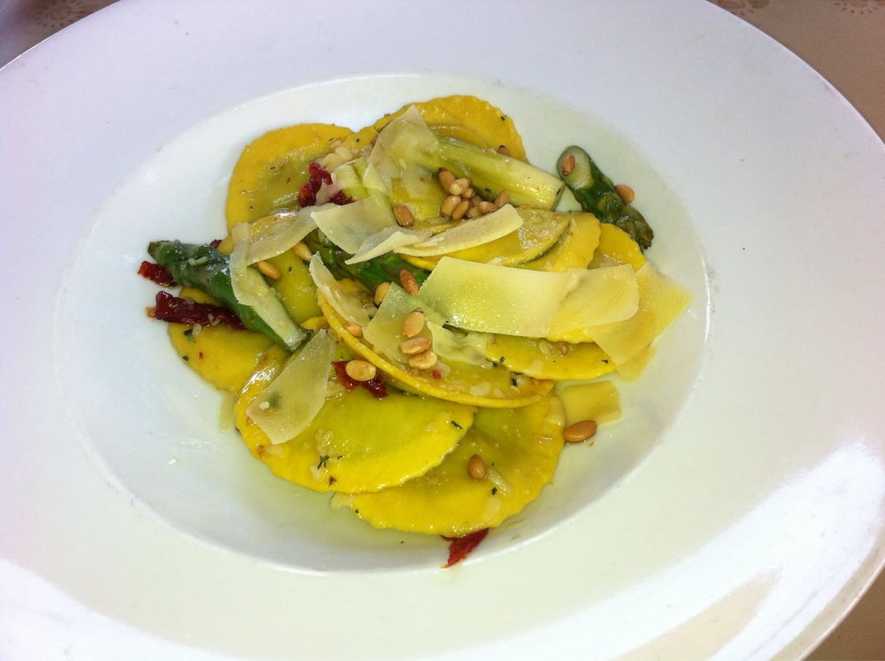 ... Chèvre (Asparagus, Lemon, and Goat Cheese Ravioli) - 3 Stars - $19.75