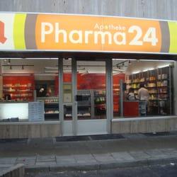 Front der pharma24 Apotheke in Erlangen…