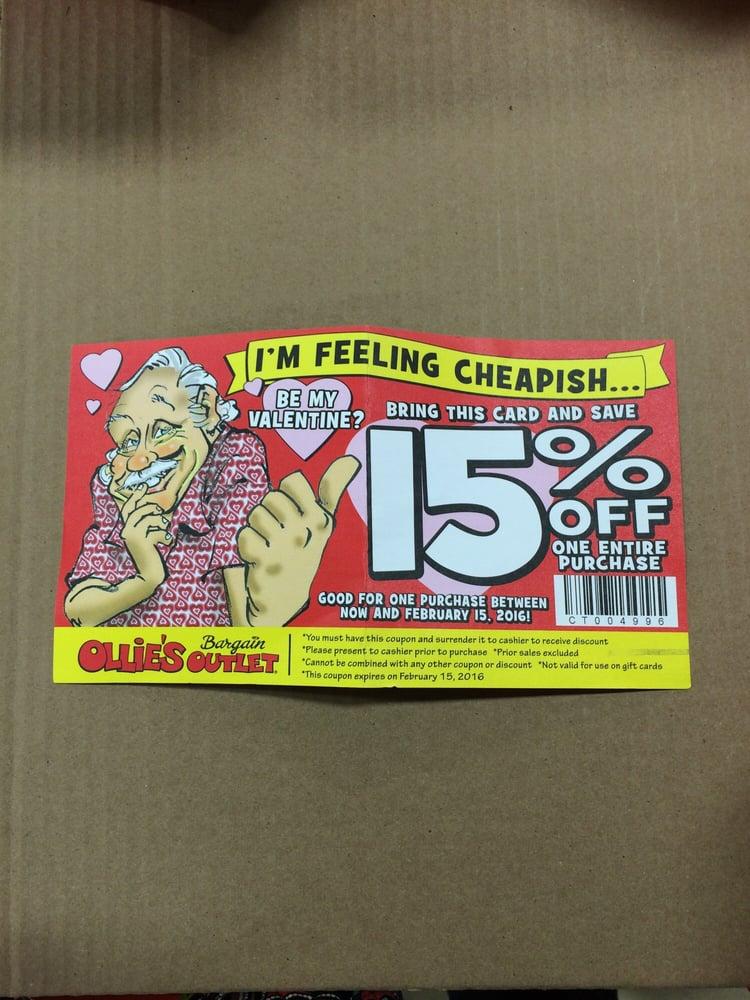 Ollies discount coupon