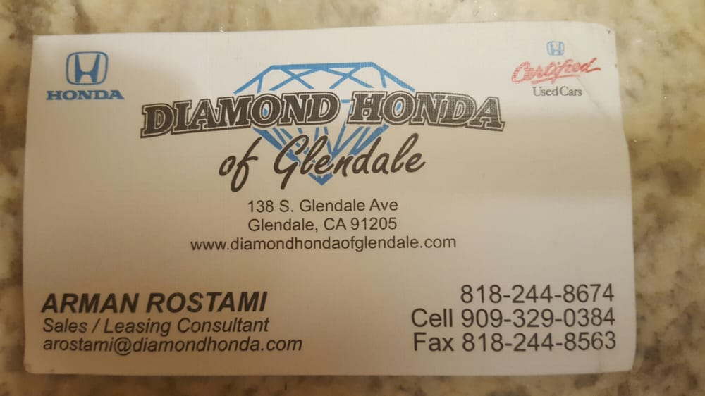 Give arman a call he 39 s not pushy and will provide all the for Diamond honda of glendale