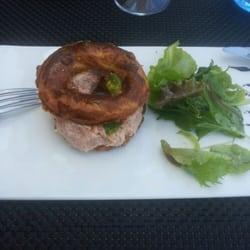 Victor Café - Marseille, France. Paris brest de rillettes de saumon