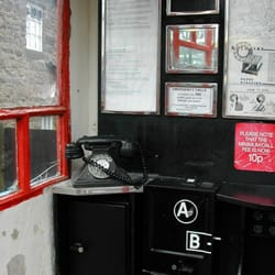 inside old phone box