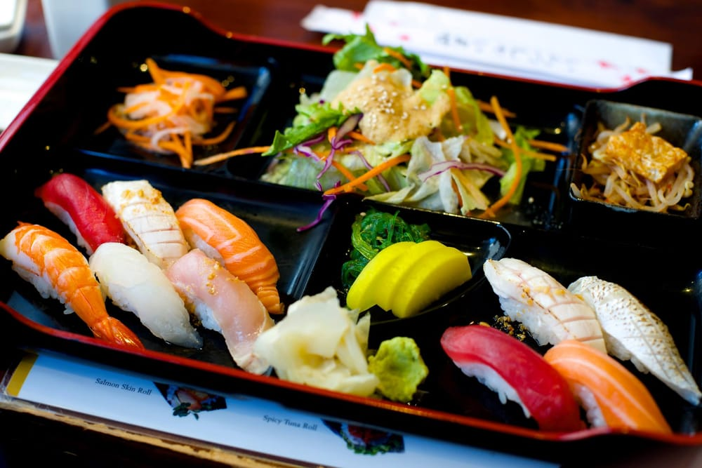 the nigiri sushi bento lunch box for 14 at japango yelp. Black Bedroom Furniture Sets. Home Design Ideas