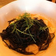 Squid ink, sea food pasta