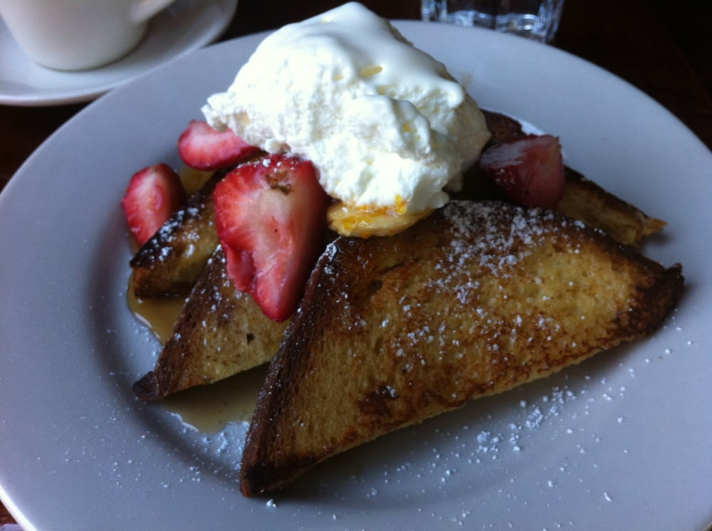 Creme bruleed french toast with whipped mascarpone cheese and roasted ...