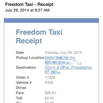 taxi receipt maker