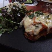 Lasagnes au tallegio et asperges.