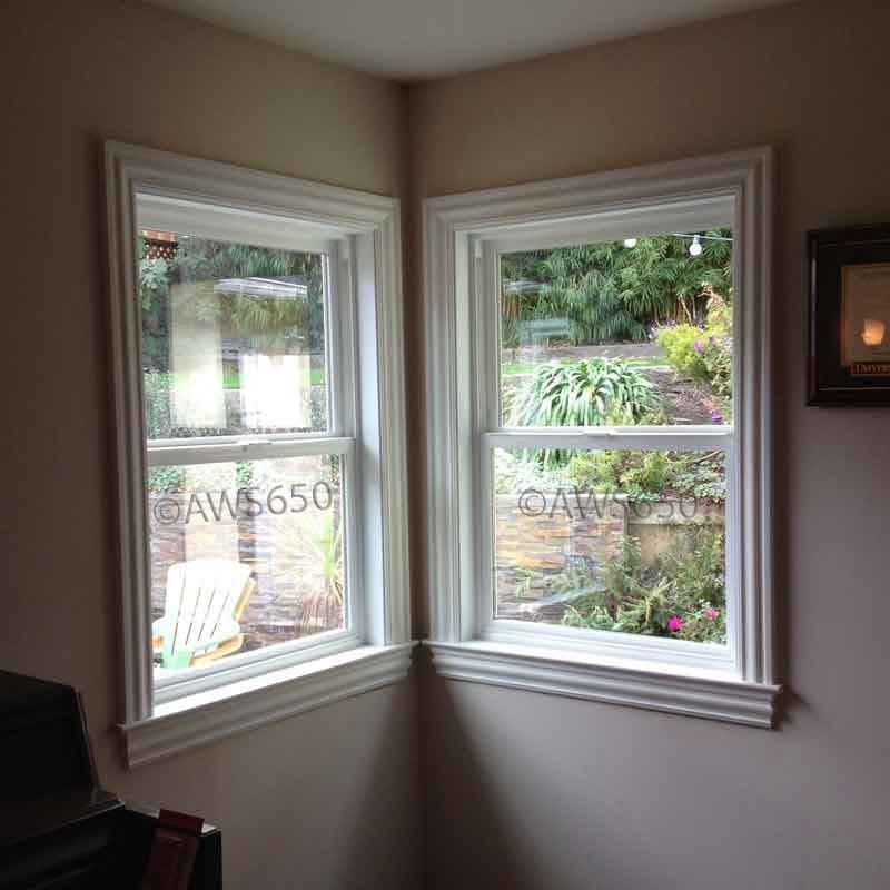 Milgard tuscany single hung with new interior trim for Milgard fiberglass windows reviews