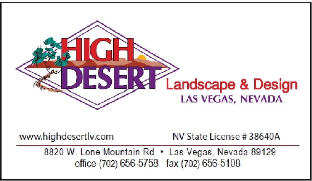 High desert landscape design landscaping las vegas for Garden design las vegas