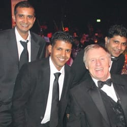 Chris Tarrant with the Anokha Staff