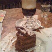 Decadent chocolate/hazelnut mousse cake…