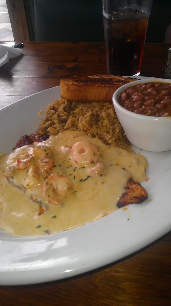 Talapia Pontratrain Red Beans Dirty Rice Yelp