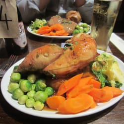 MASSIVE roast dinner... they gave me…