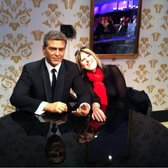 Madame Tussaud's - hanging with clooney - London, United Kingdom