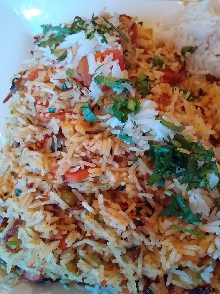 Vegetable biryani probably the best in town yelp for Amisha indian cuisine