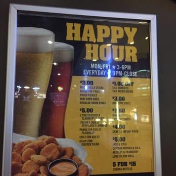 Buffalo Wild Wings - Dublin, CA, United States. Happy Hour Menu!! Take ...