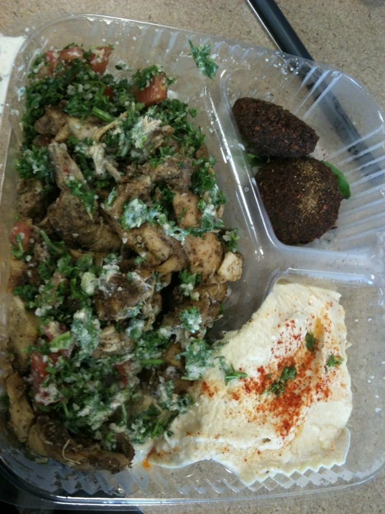 chicken plate with falafel hummus and tabouli yelp