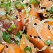 Seared Salmon Sashimi with Mixed Salad…