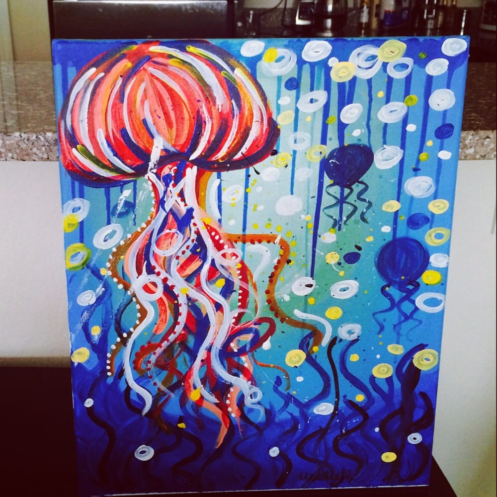 painting with a twist tampa fl united states my jellyfish from