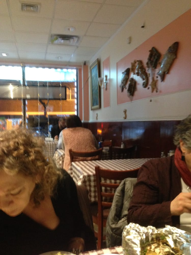 Picnic style family tables room for your whole crew for Fish market jersey city