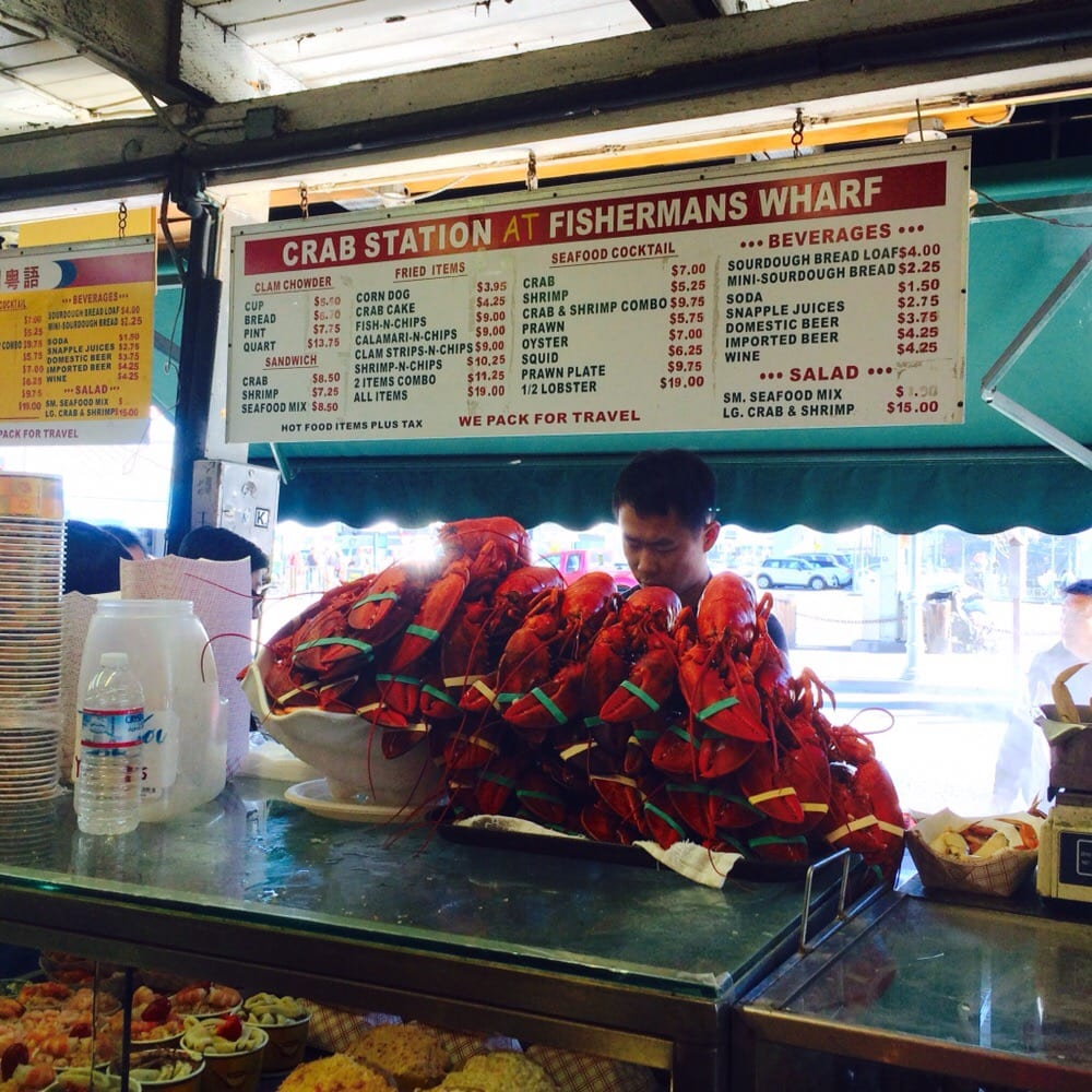 The crab station at fisherman s wharf seafood for Fishing store san francisco