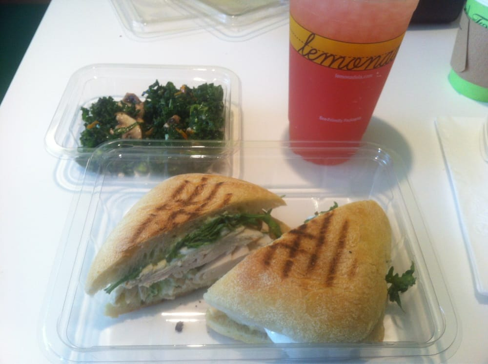 ... chicken sandwich, kale salad, and watermelon rosemary lemonade. | Yelp