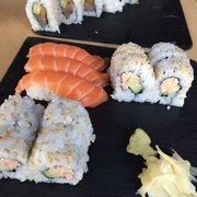 I love lachs set and spicy tuna…