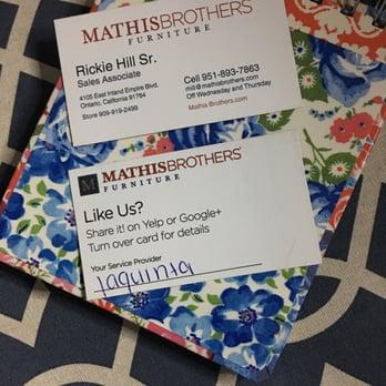 Mathis Brothers Furniture Furniture Store tario CA