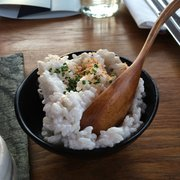 Coconut rice and chives