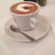 Very nice hot chocolate. Free, to warm…