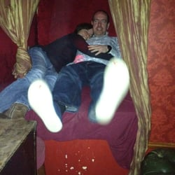 Pot and Andrew in the cubbyhole!