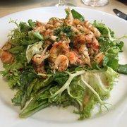 Camille - Paris, France. Salade de queues d'ecrevisses marinees