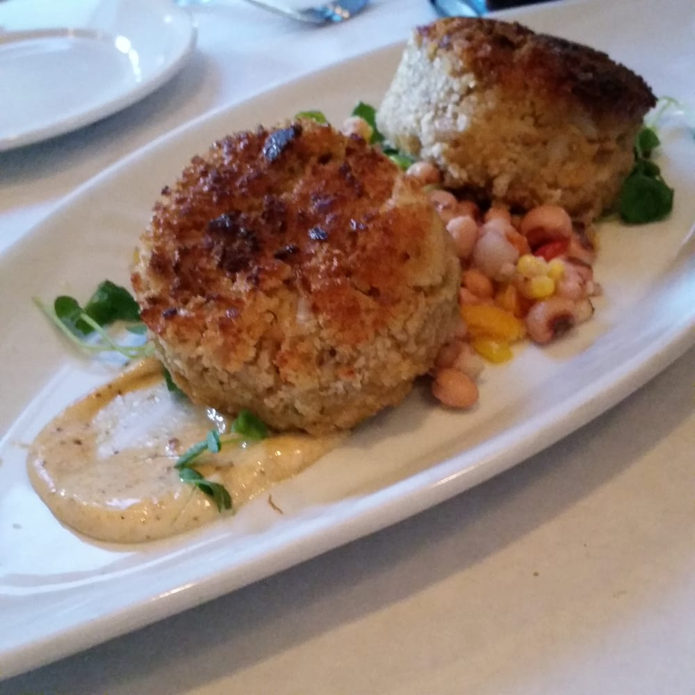 Anchor Down - Merrick, NY, United States. Crab and corn cakes