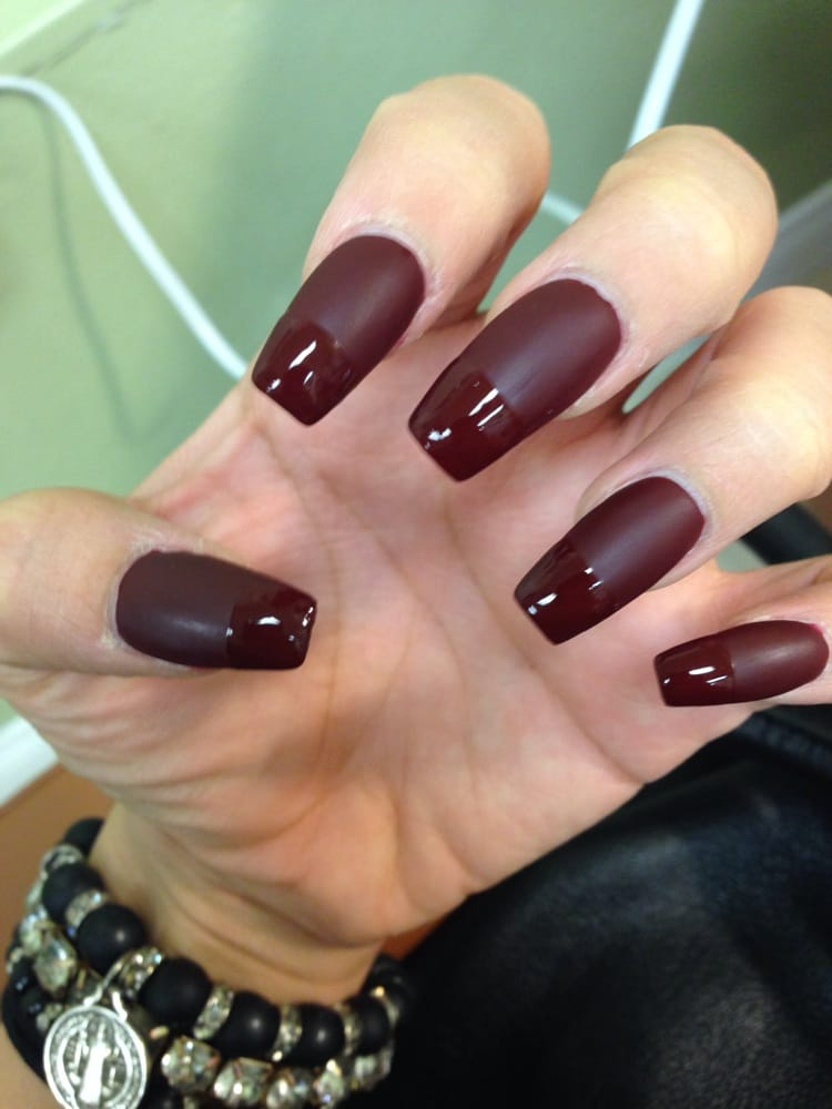 Matte Deep Red With Glossy